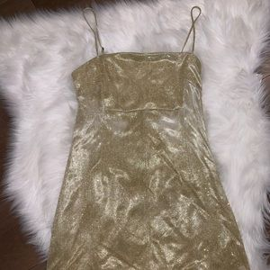 Urban Outfitters Dresses - Adorable Gold mini dress